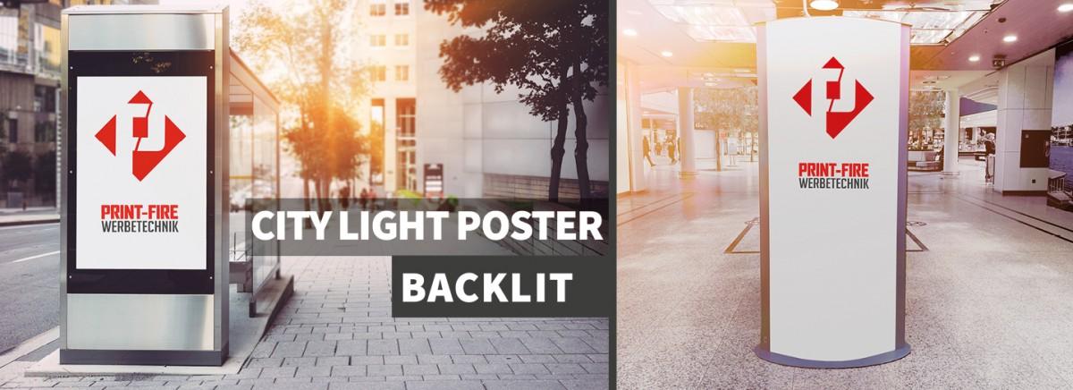 City light Poster / Backlit