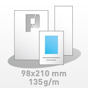 Flyer, 98x210mm, 4/4-farbig, 135g/m BD-glänzend