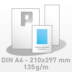 Flyer, DIN A4 - 210x297 mm, 4/4-farbig, 135g/m BD-matt