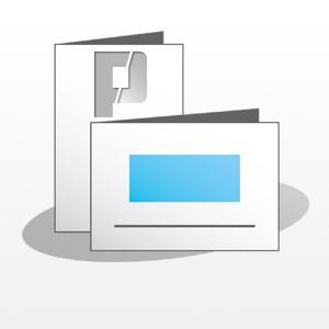 Klappkarte, 105x148mm, 4 Seiten, 4/4-farbig, BD-matt
