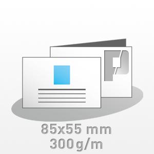 Visitenkarten 85x55mm 4 0 Farbig Bilderdruck 300g M
