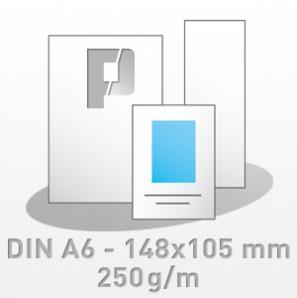 Flyer, DIN A6 - 148x105 mm, 4/4-farbig, 250g/m BD-glänzend