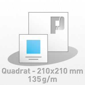 Flyer, Quadratisch - 210x210 mm, 4/4-farbig, 135g/m BD-glänzend