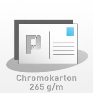 Postkarten, 210x100mm, 4/4-farbig, Chromokarton