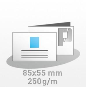 Visitenkarten, 85x55mm, 4/4-farbig, Visitenkartenkarton 250 g/m