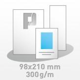 Flyer, 98x210mm, 4/4-farbig, 300g/m BD-matt
