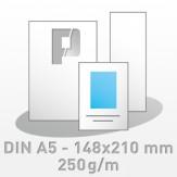 Flyer, DIN A5 - 148x210 mm, 4/4-farbig, 250g/m BD-glänzend